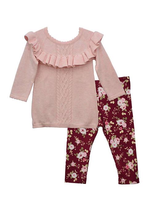 Bonnie Jean Baby Girls Ruffle Top and Leggings