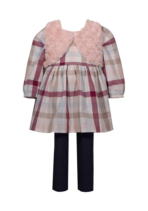 Bonnie Jean Baby Girls Plaid Dress and Leggings