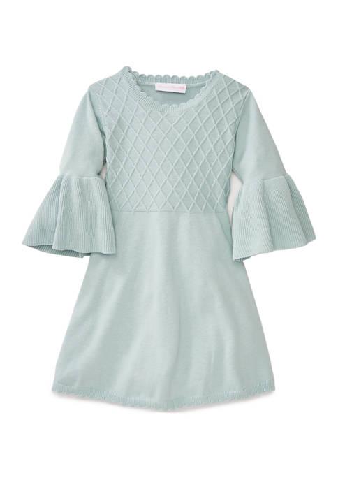 Bonnie Jean Toddler Girls Bell Sleeve Sweater Dress