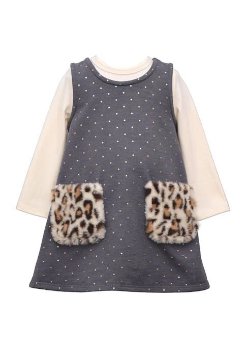 Bonnie Jean Toddler Girls Leopard Pinafore Dress