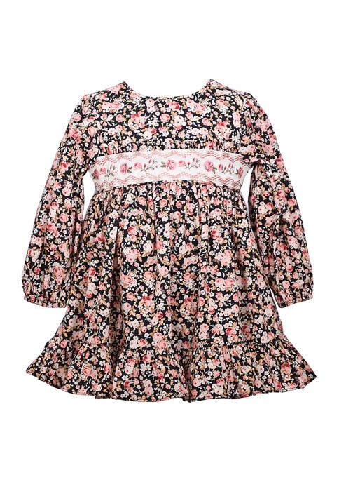 Bonnie Jean Toddler Girls Smocked Empire Dress