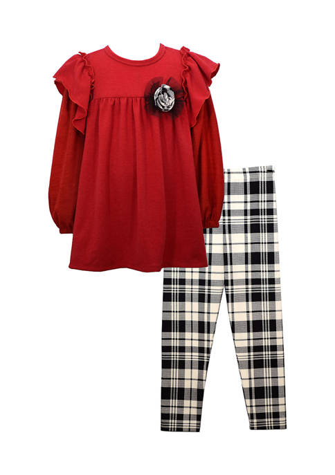 Bonnie Jean Toddler Girls Hacci Dress with Plaid