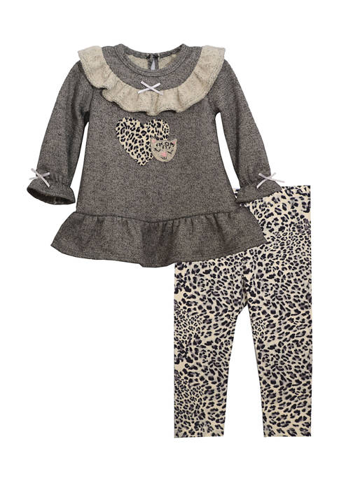 Bonnie Jean Toddler Girls Long Sleeve French Terry