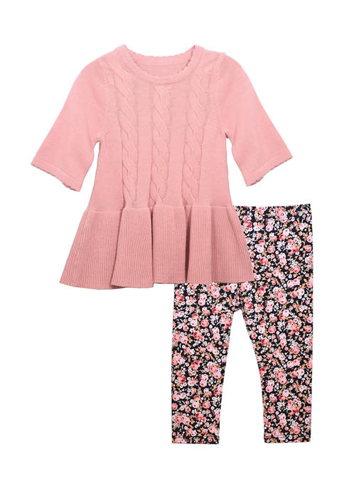 Bonnie Jean Toddler Girls 3/4 Sleeve Sweater and