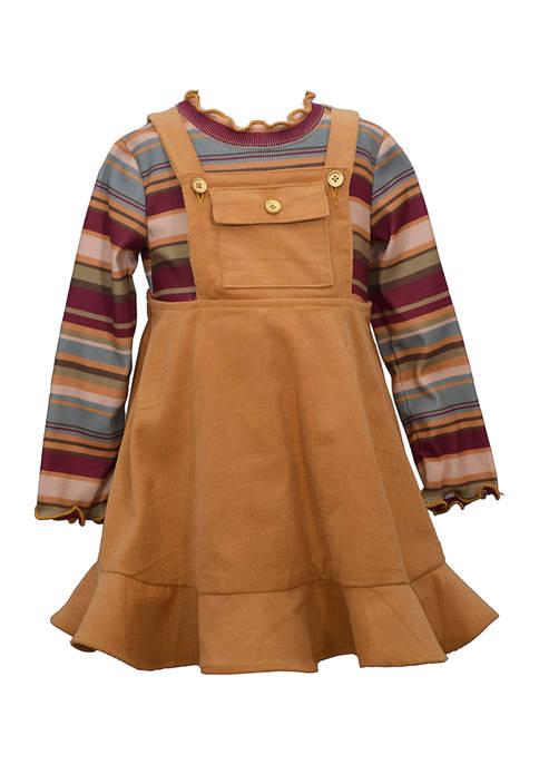 Bonnie Jean Toddler Girls Corduroy Bib Jumper with
