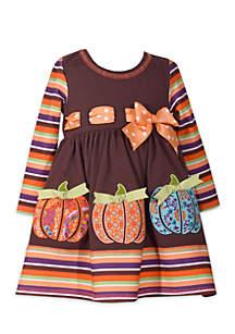 Girls 4-6x Harvest Pumpkin Dress