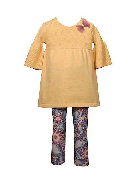 Bonnie Jean Toddler Girls Long Sleeve Swing Sweater