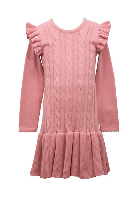 Bonnie Jean Girls 4-6x Long Sleeve Sweater Dress