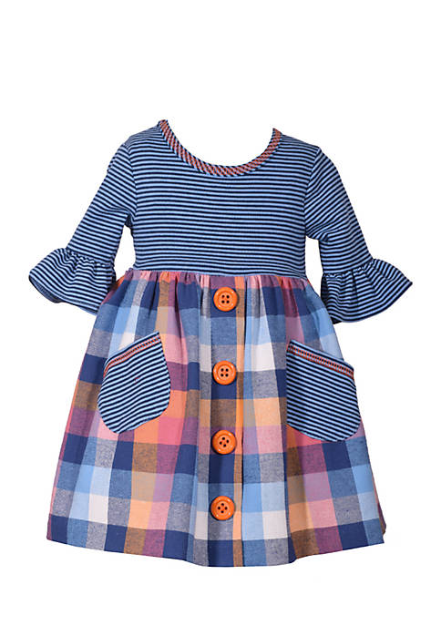 Bonnie Jean Infant Girls Flannel Dress