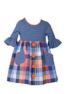 Infant Girls Flannel Dress