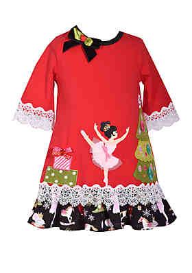 e8fb798045d9 Bonnie Jean Baby Girls 2 Piece Nutcracker Dress and Panty Set ...