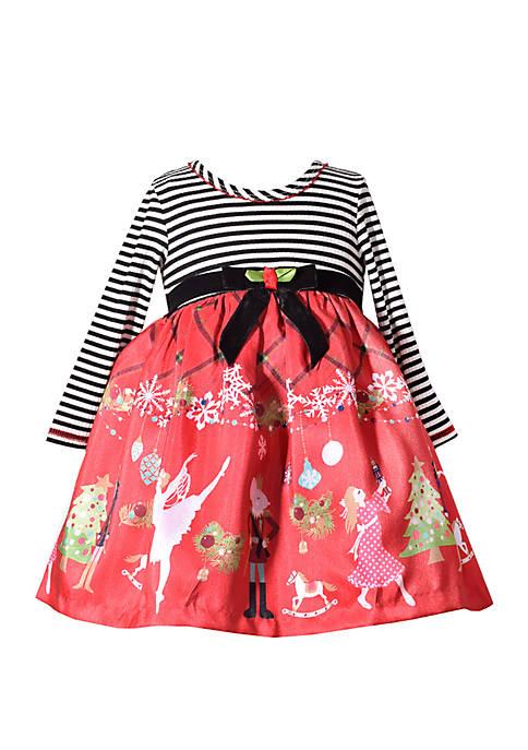 Bonnie Jean Baby Girls 2 Piece Nutcracker Dress