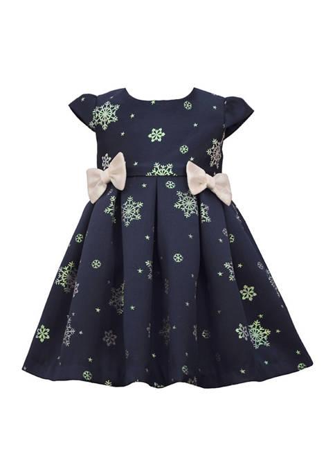 Toddler Girls Snowflake Bow Dress