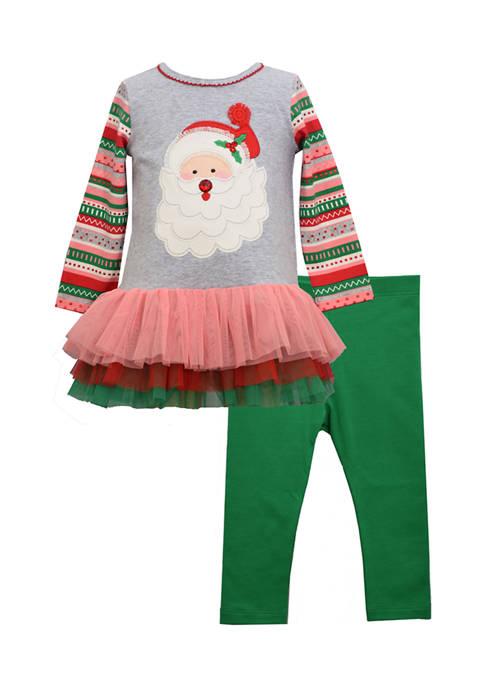 Bonnie Jean Toddler Girls 2 Piece Santa Set