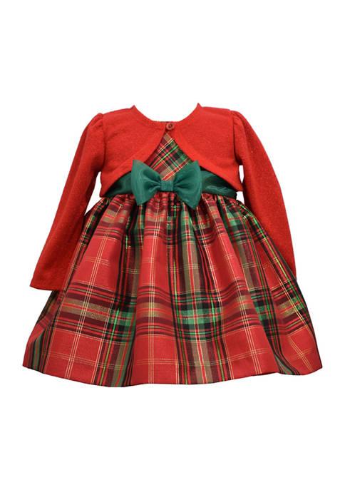 Bonnie Jean Toddler Girls Cardigan Plaid Dress