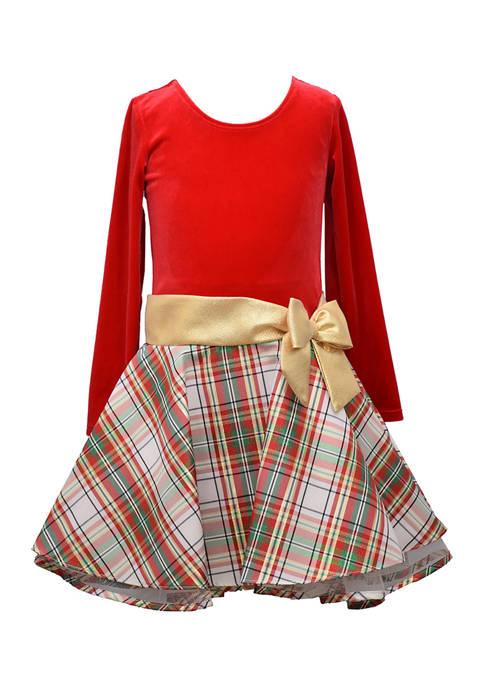 Bonnie Jean Toddler Girl Drop Waist Plaid Dress