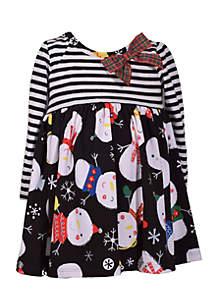 Toddler Girls Mixed Media Yummy Dress