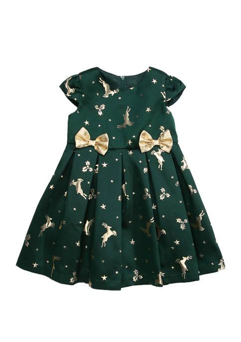 Bonnie Jean Toddlers Girls Round Schiffli Dress