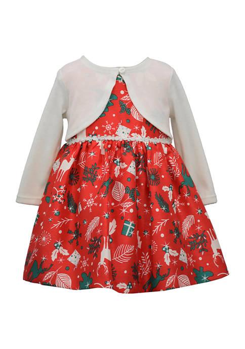 Bonnie Jean Toddler Girls Faux Cardi Dress
