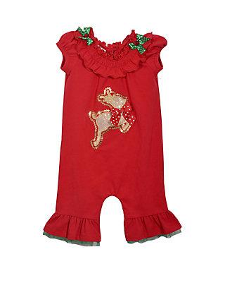 630afcfc76b Bonnie Jean. Bonnie Jean Baby Girls Red Reindeer Coverall