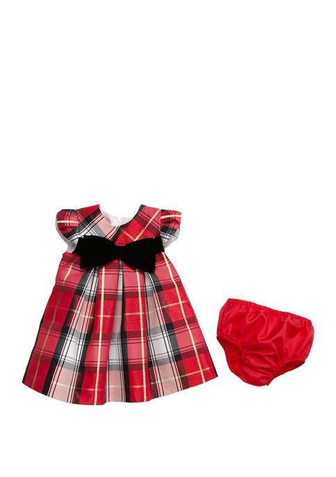 Bonnie Jean Baby Girls Plaid Dress with Black