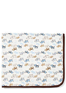 Little Me Puppy Print Receiving Blanket