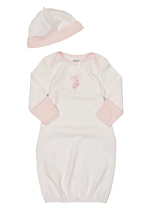 Little Me Newborn Girl Ballerina Gown with Hat