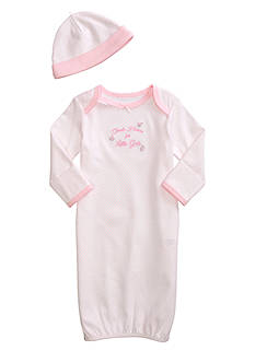 Little Me Thank Heaven For Little Girls Gown with Hat
