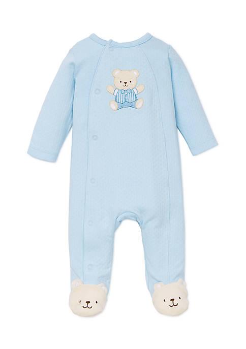 Little Me Baby Boys Cute Bear Footie Pajamas