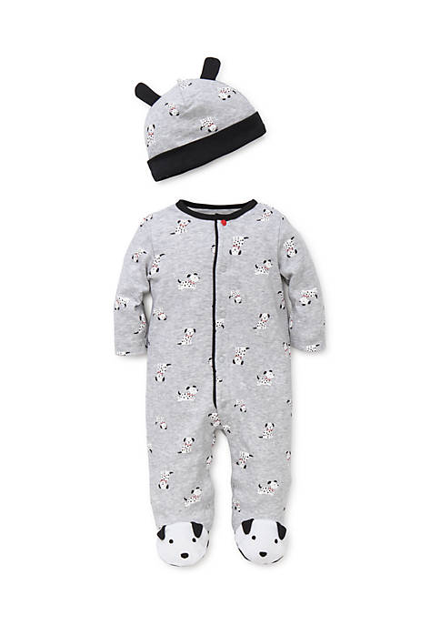 Little Me Baby Boys Dalmatian Print Footie with