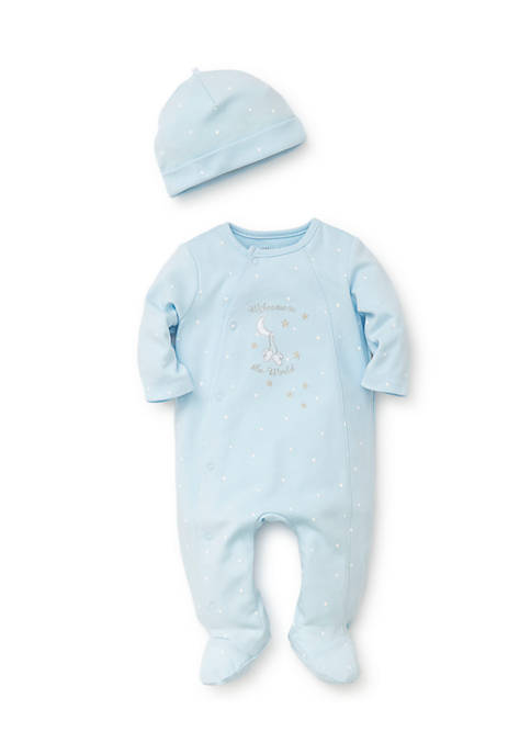 Little Me Welcome to the World Footie One-Piece-