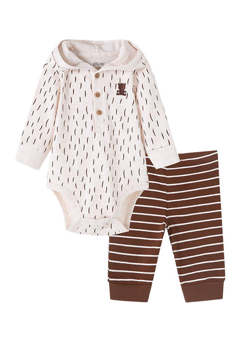 Baby Boys 2-Piece Bear Bodysuit and Pants Set