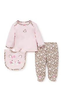 Baby Girls Kitty Leopard Set