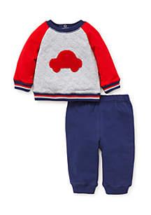 Baby Boys Car Sweatshirt Set