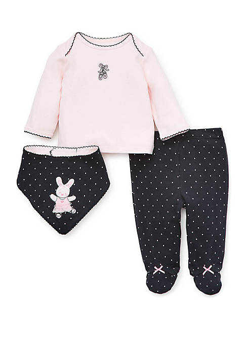 Little Me Baby Girls Ballet Bunny Set