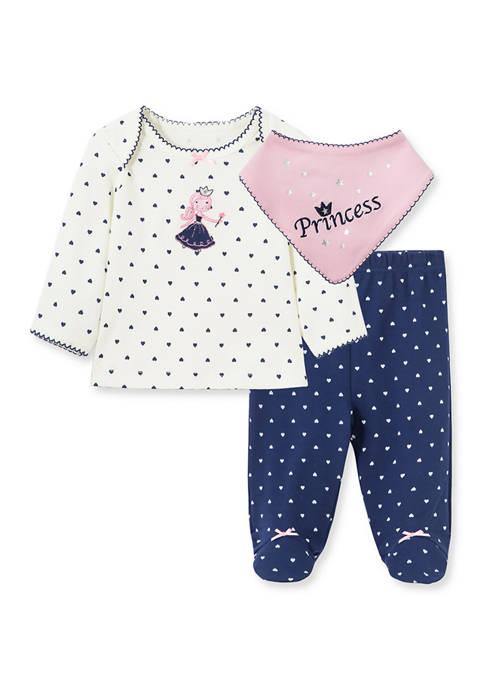 Little Me Baby Girls Princess Bib Set