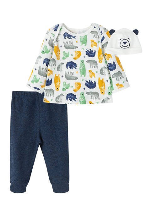 Little Me Baby Boys Beary Cute Set with