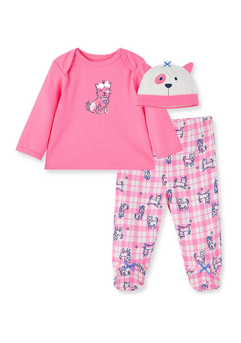 Little Me Baby Girls Perfect Pup Set with