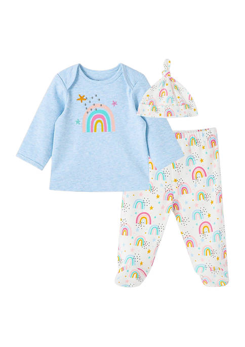 Little Me Baby Girls Rainbow Set with Hat
