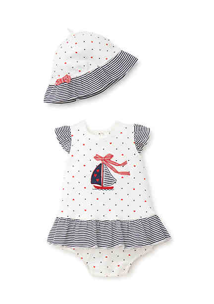 Baby clothes newborn toddler belk little me infant girls sailboat popover one piece negle Images