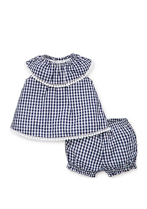 Baby Girls Gingham Sunsuit