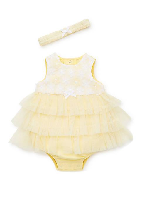 Baby Girls Yellow Daisy Popover