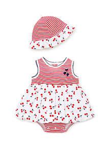 Little Me Baby Girls Cherry Popover