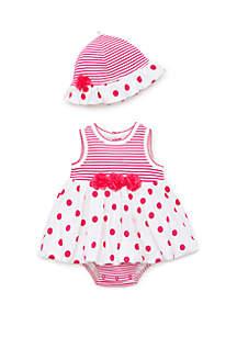 Little Me Baby Girls Polka Dot Popover