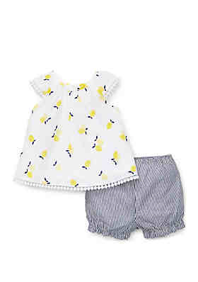 fea0541046b Little Me Baby Girls Lemons Sunsuit ...