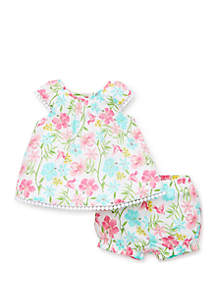 Little Me Baby Girls Tropical Sunsuit