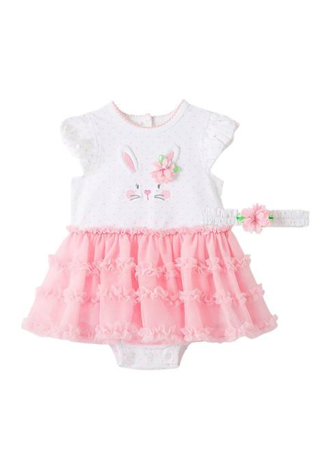 Little Me Baby Girls Bunny Heart Tutu