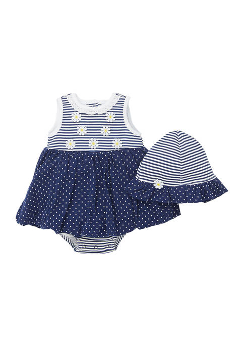 Little Me Baby Girls Daisy Popover Dress