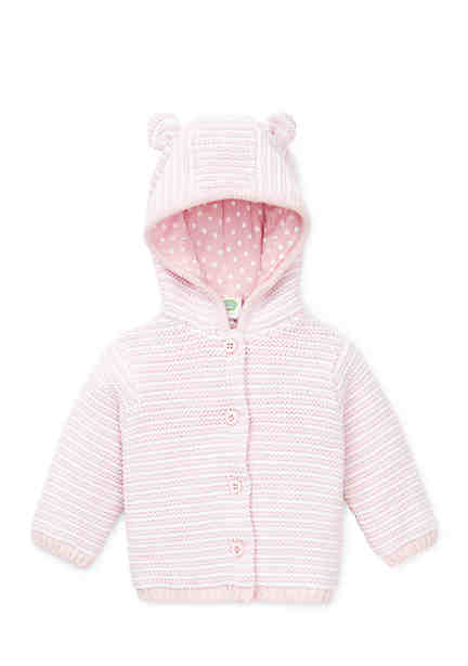 Little Me Baby Girls Light Pink Cable Sweater