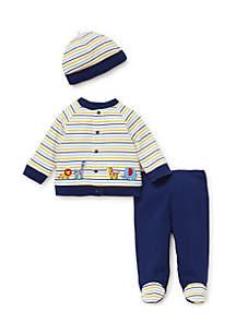 Baby Boys Safari Stripe Cardigan Set